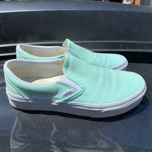 Mint vans classic slip on women's 5.5